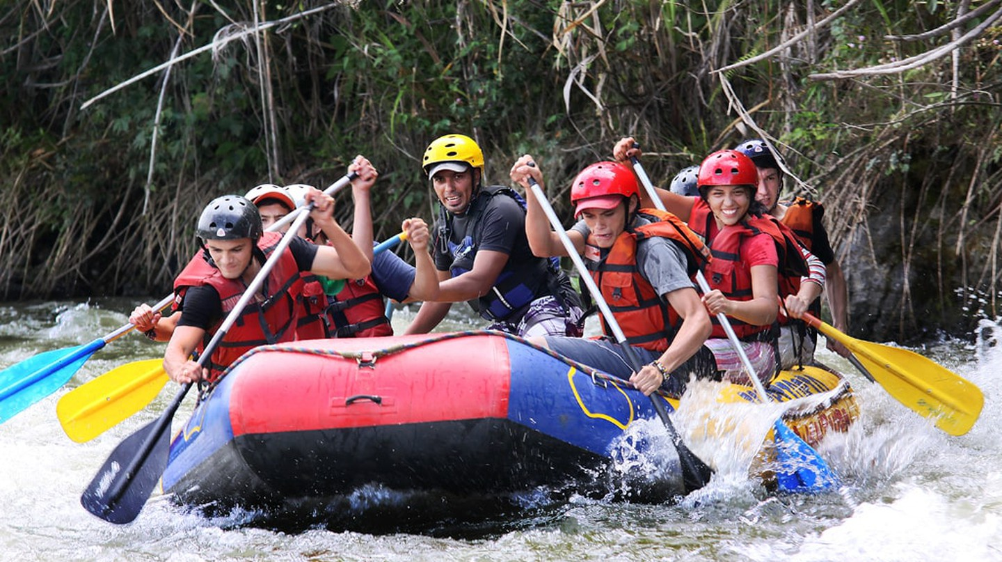 Raft class V rapids in Colombia's Santander region