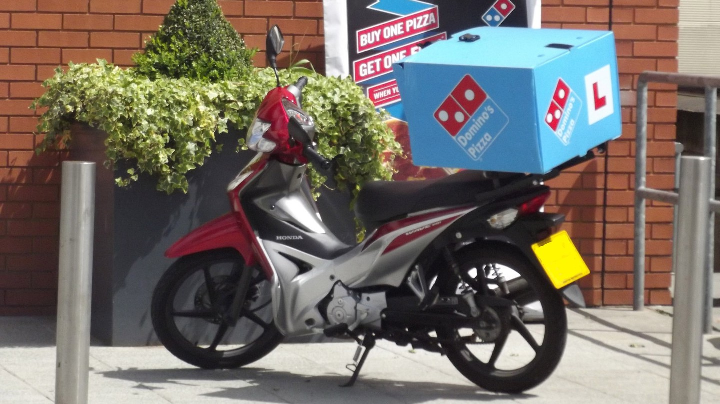 Online delivery made easy by motorbike