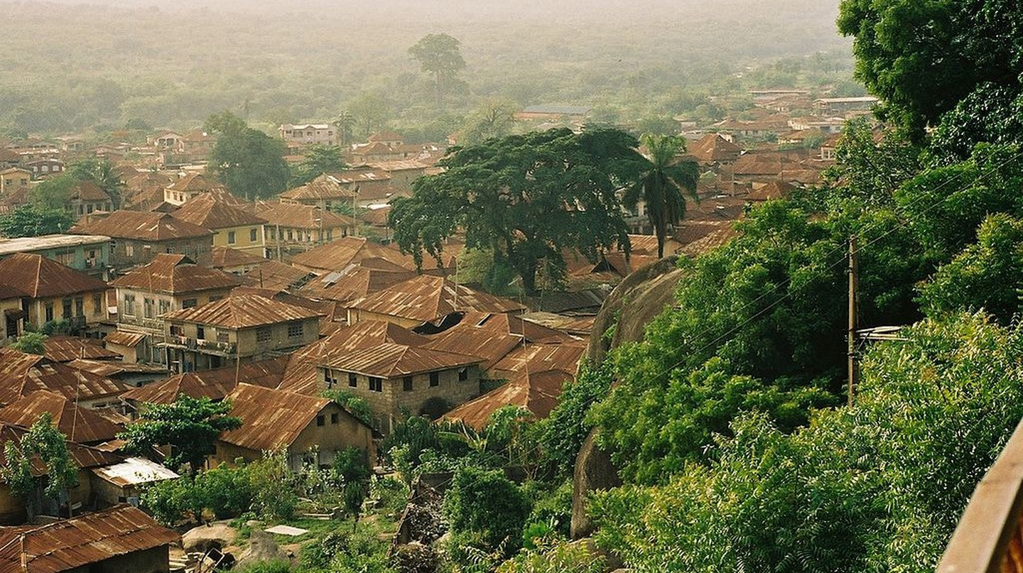 A view of Abeokuta from Olumo Rock