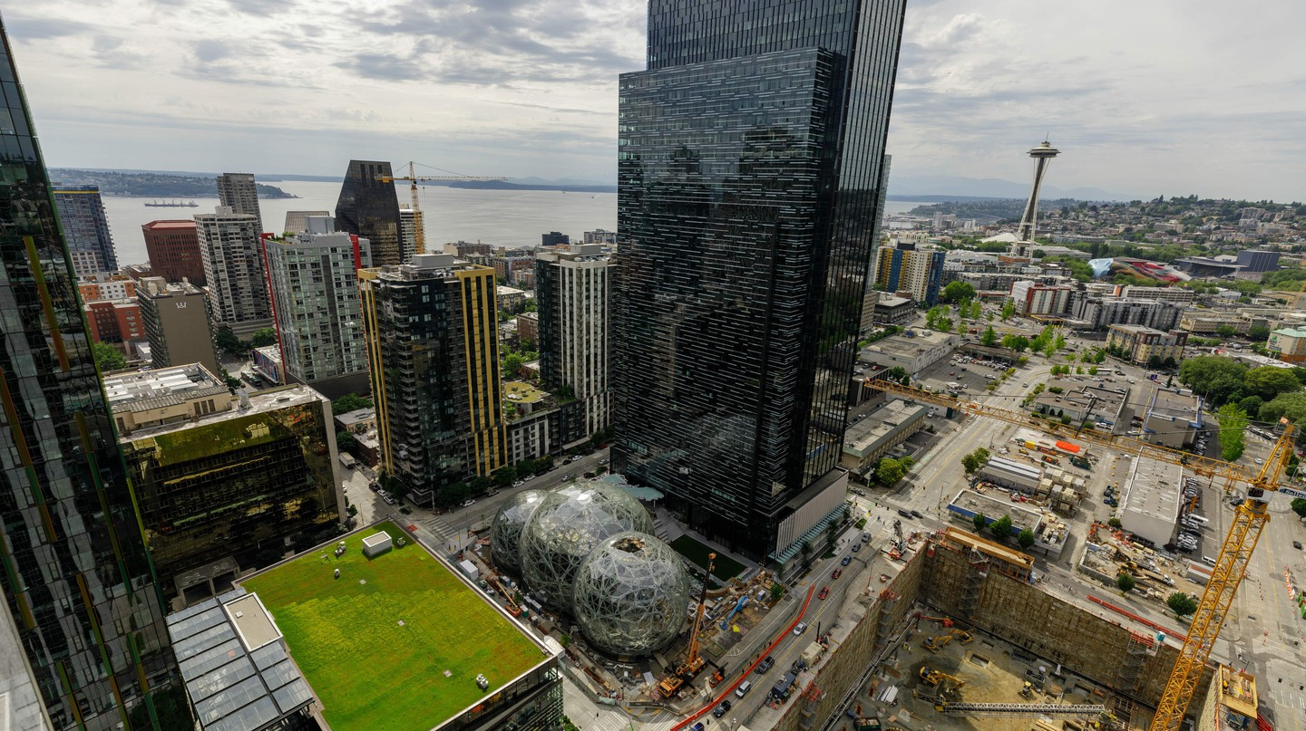 The existing Amazon headquarters in Seattle