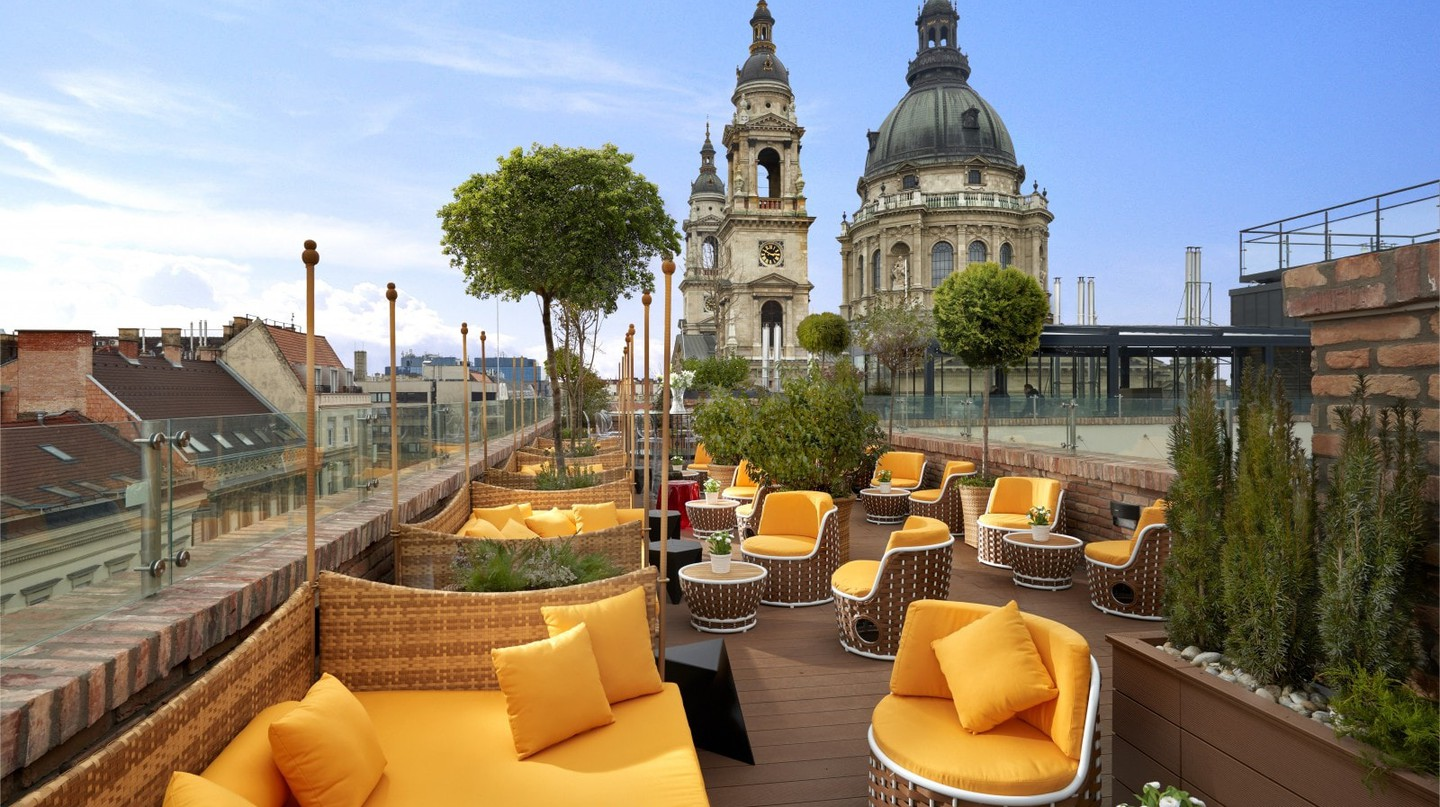 The rooftop bar at the Aria Hotel, Budapest