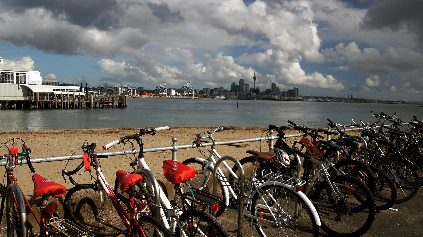 Bikes and ferries are two options you'll have to choose from