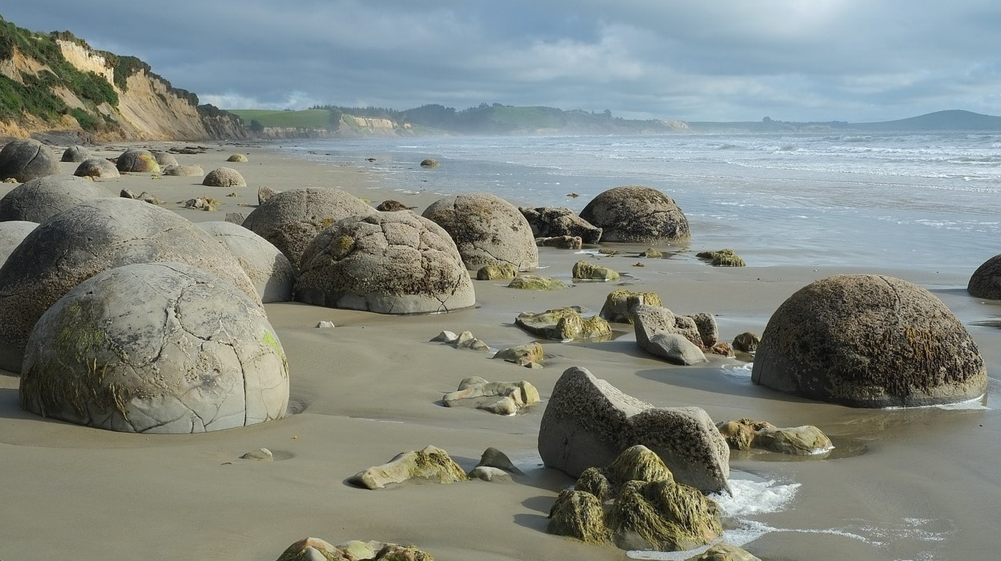 Moeraki Boulders, Koekohe Beach, Otago, New Zealand
