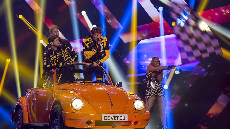De Vet Du competing in Melodifestivalen in 2017