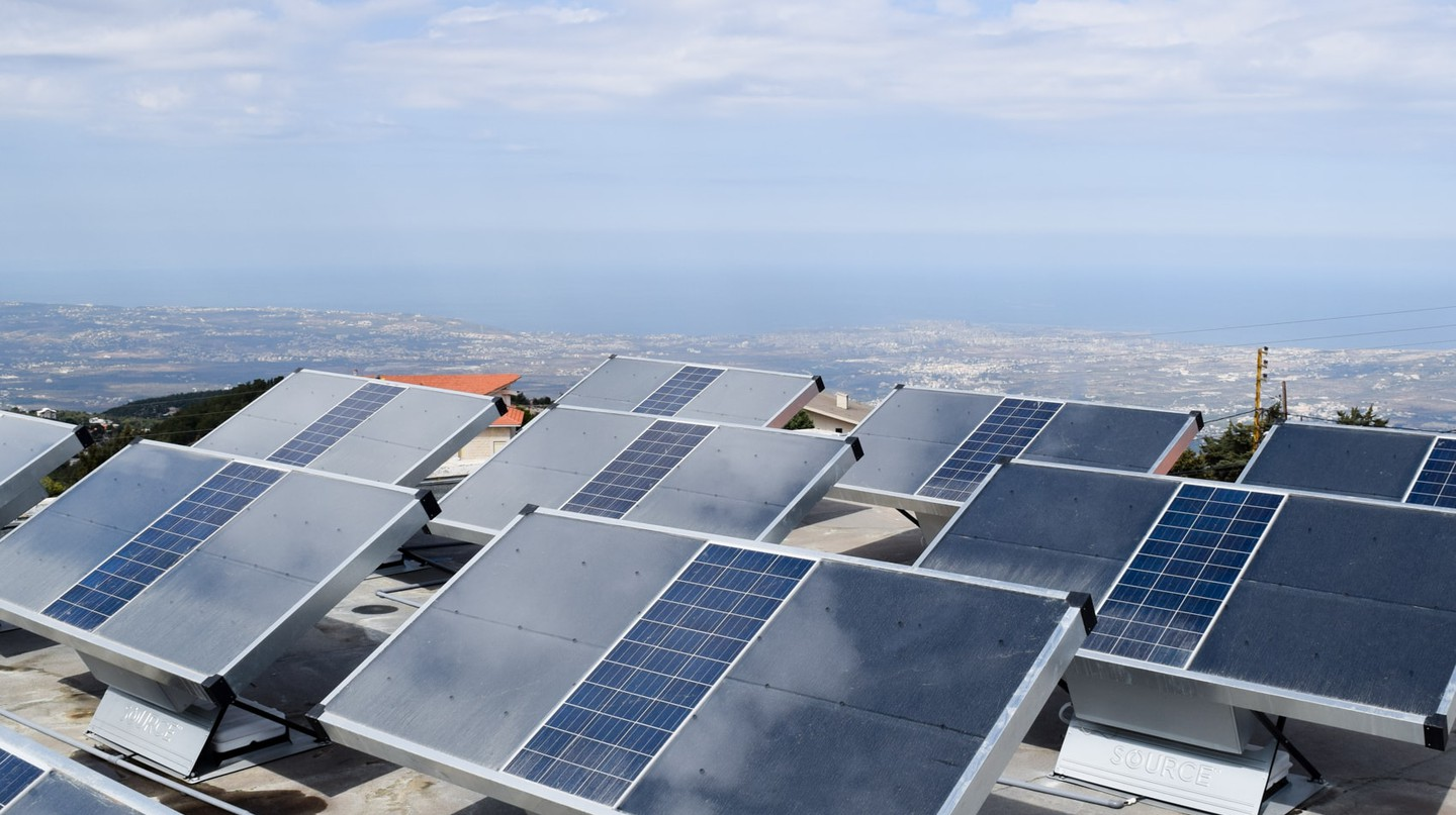 The hydropanels in action in Australia.