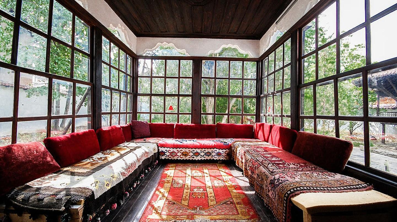 The main room of the Ethnographic Museum of Pristina Emin Gjiku
