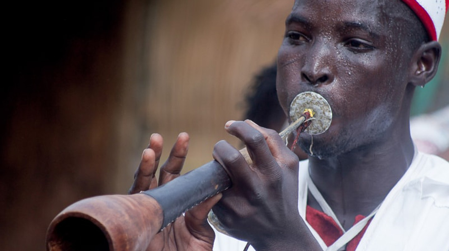 A griot performing in Cameroon
