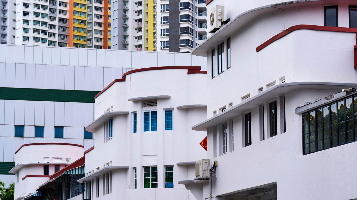 Art Deco district of Tiong Bahru, Singapore.