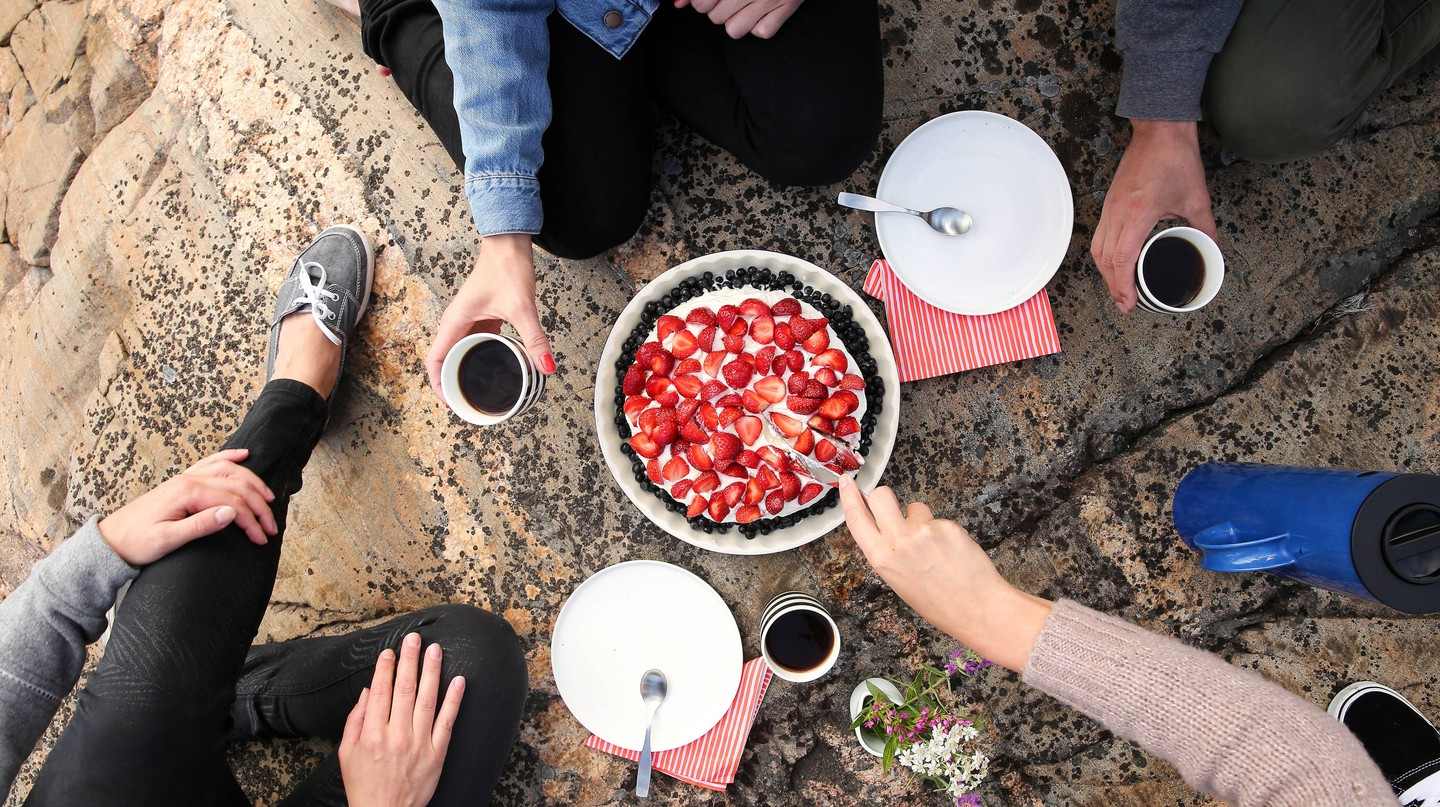 Strawberries are best enjoyed with friends.