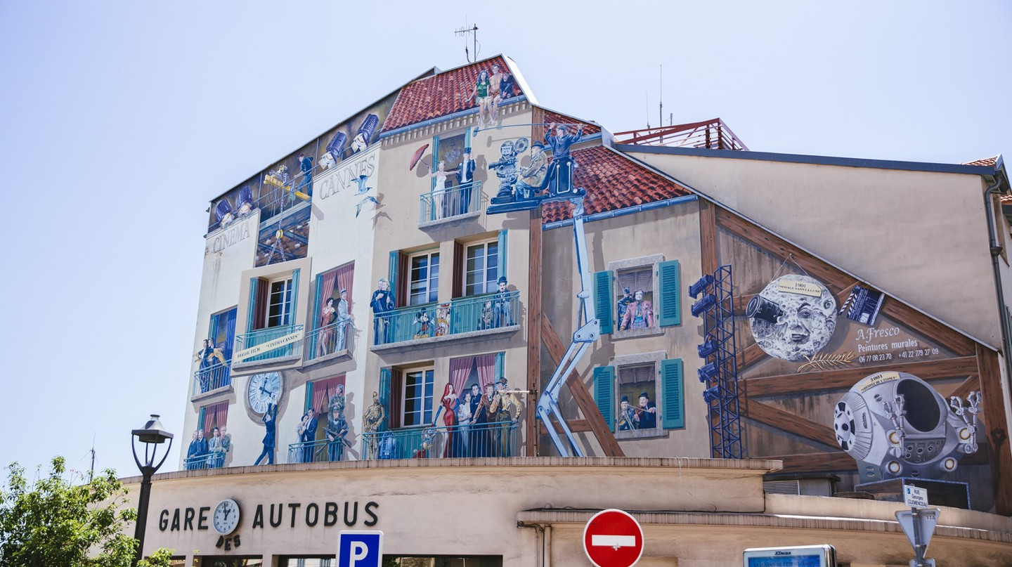 Film mural in Cannes, France