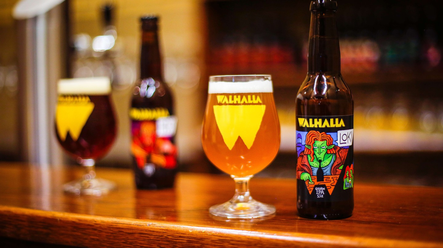 Two beers from Walhalla Craft Beer