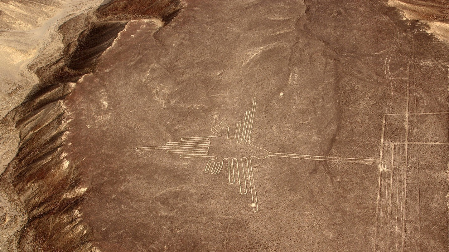 The Nazca Lines' iconic hummingbird
