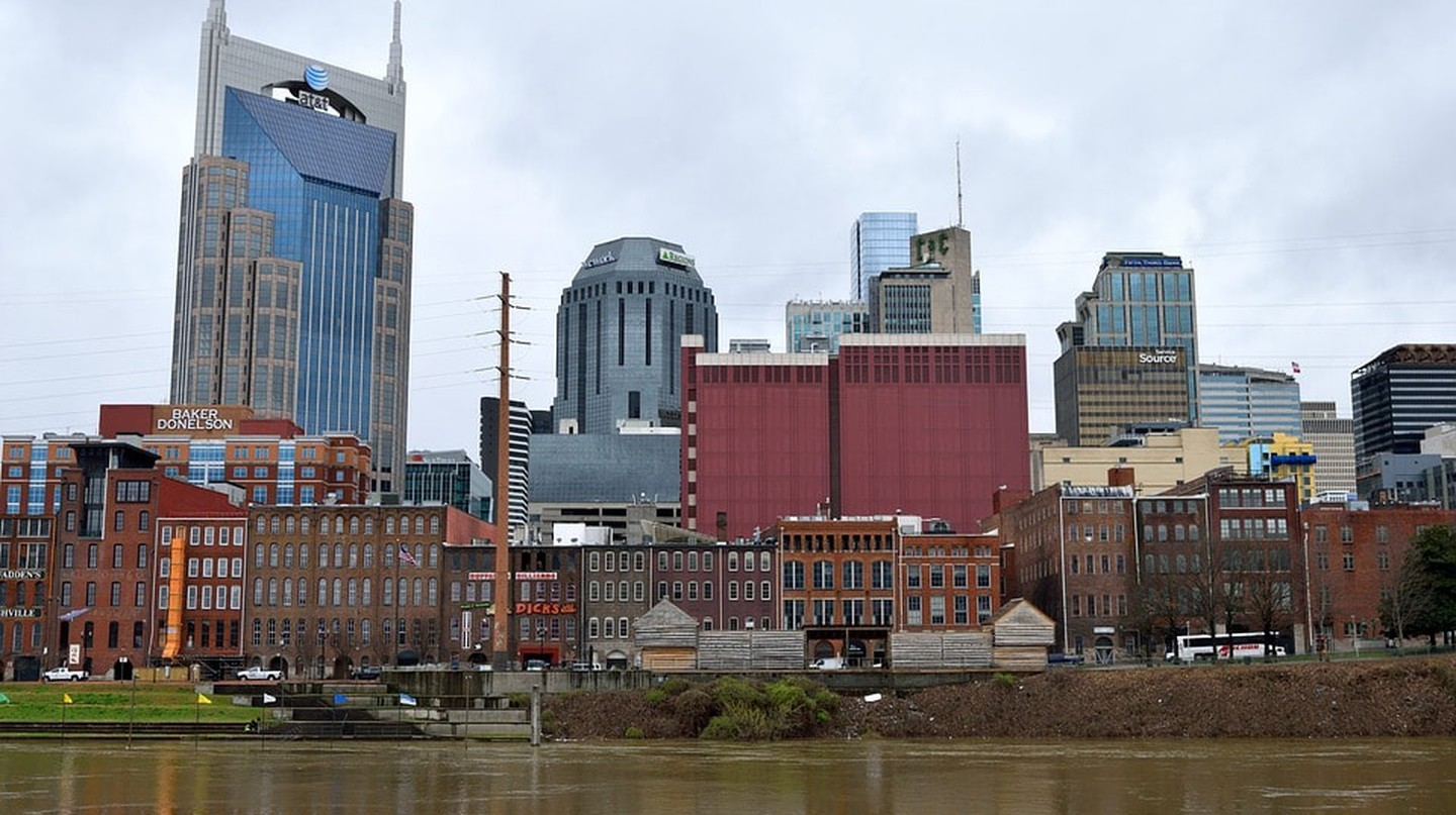 Downtown Nashville along the Cumberland River