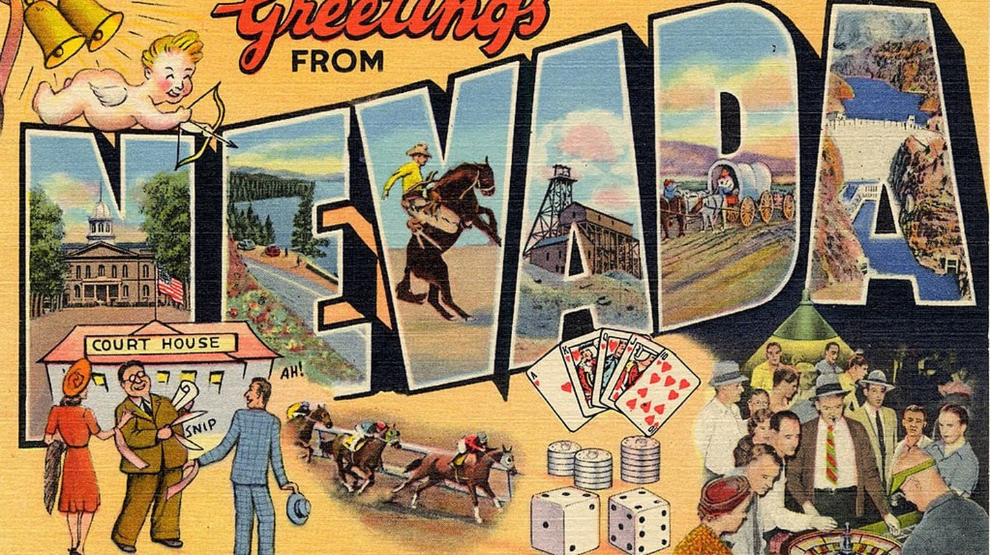 Vintage postcard of Nevada