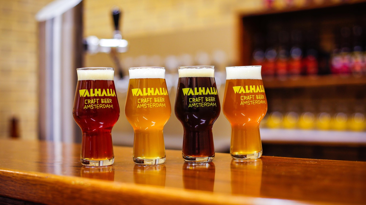 A selection of beers at Walhalla Craft Beer's taproom