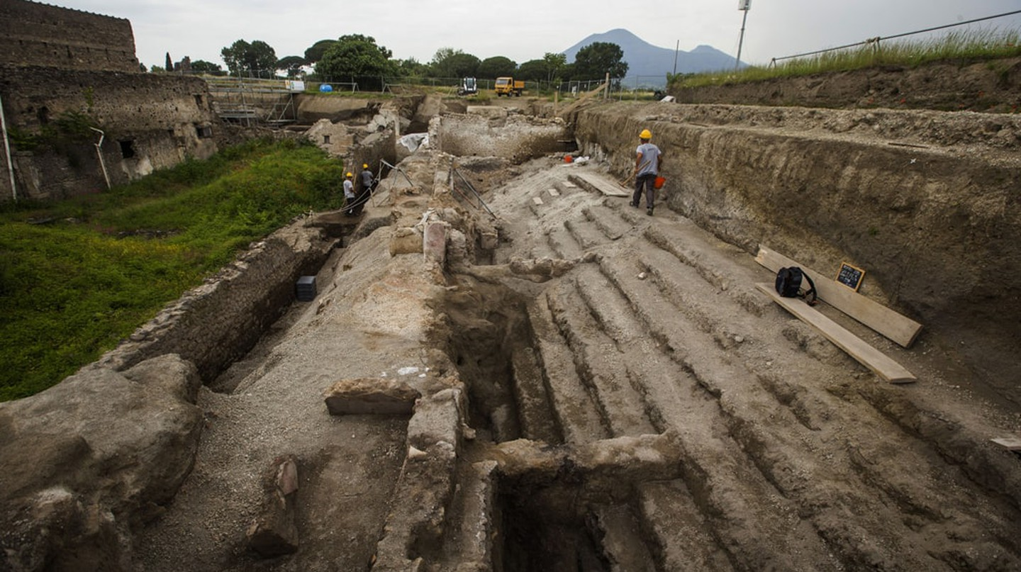 New excavation site at Pompeii, Italy