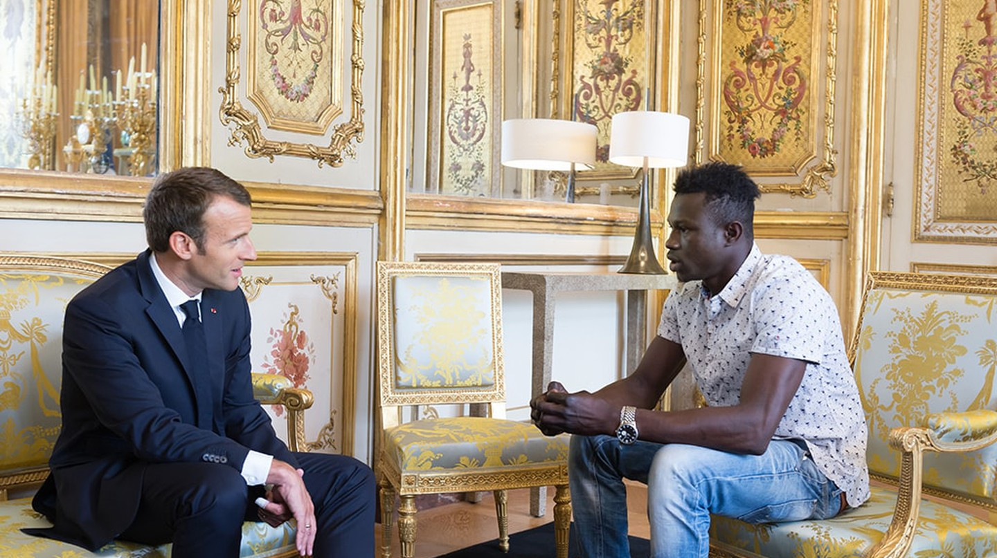 Mamoudou Gassama meets with the President