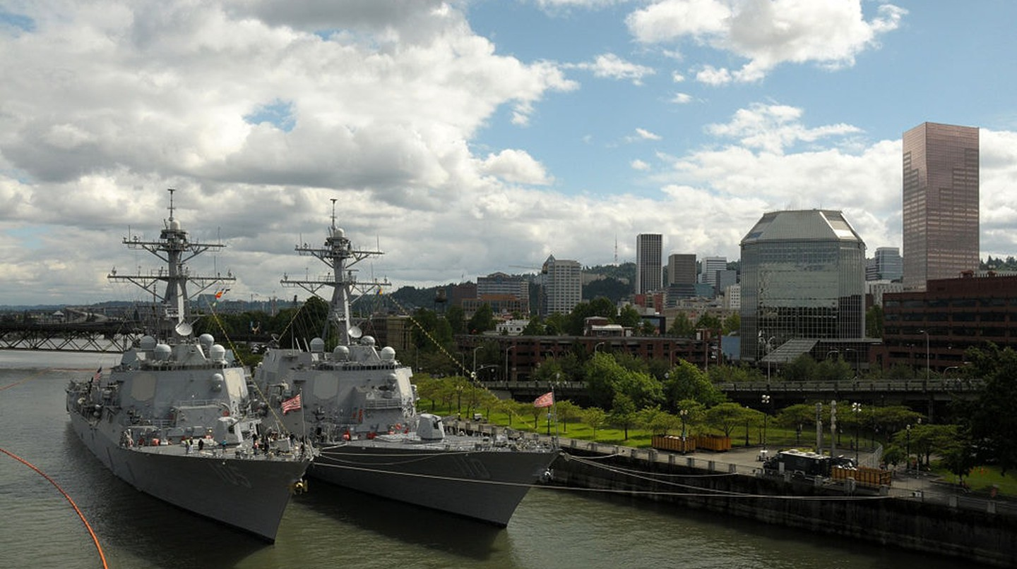 Military and non-military ships dock in Portland for the Rose Festival's Fleet Week
