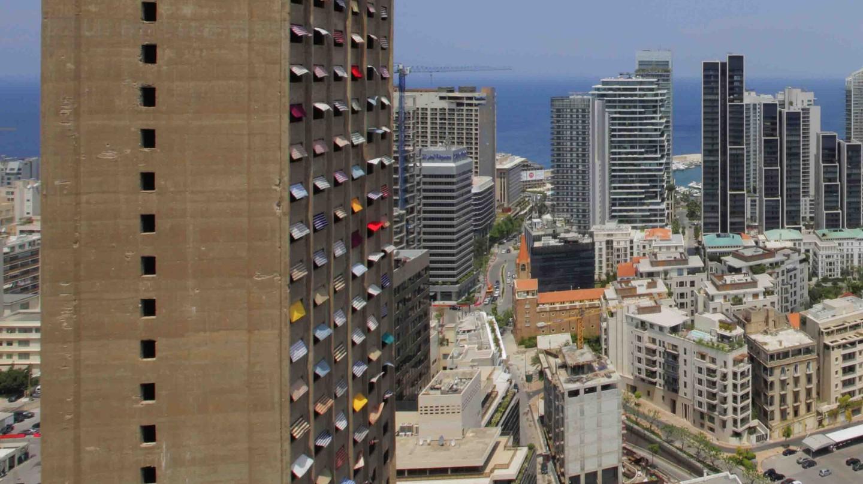 View of Burj Al Murr overlooking Beirut