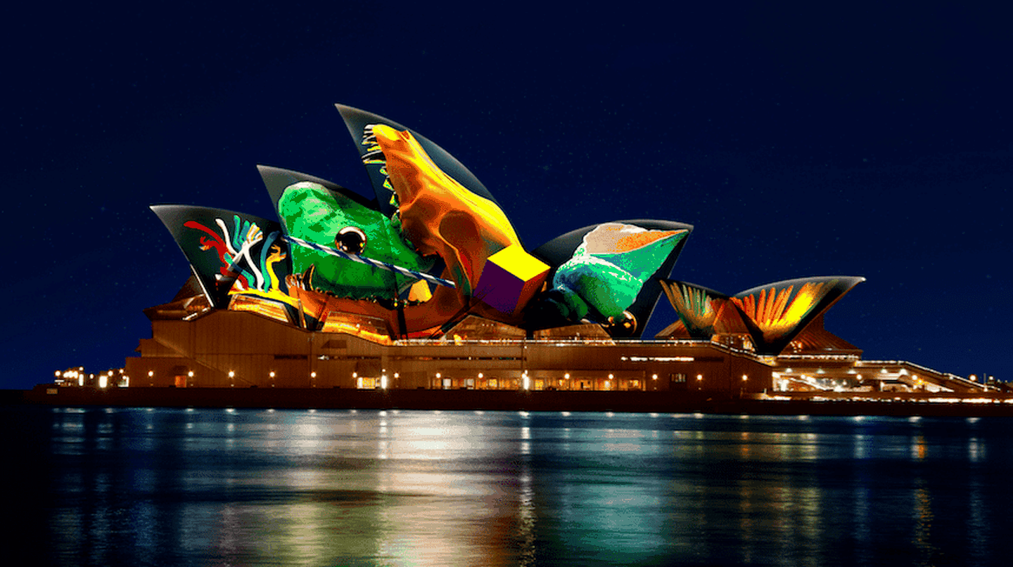Metamathemagical will be projected onto the sails of the Opera House