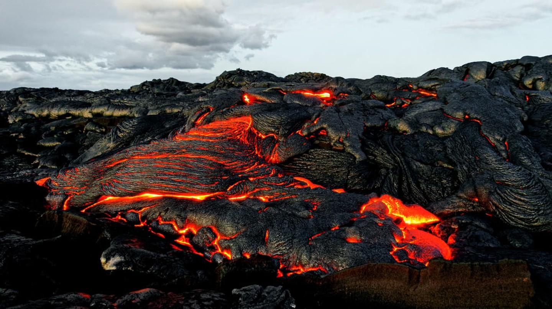 Lava flow, volcano Kilauea