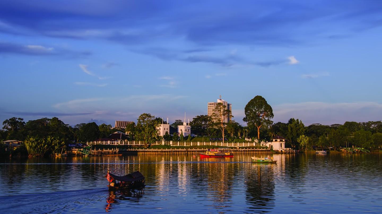 The Astana across the Sarawak River