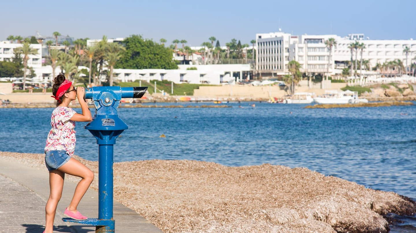 Checking out the many beautiful sights of Paphos