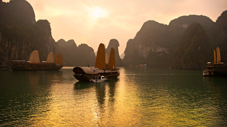 Halong Bay, Vietnam. Unesco World Heritage Site