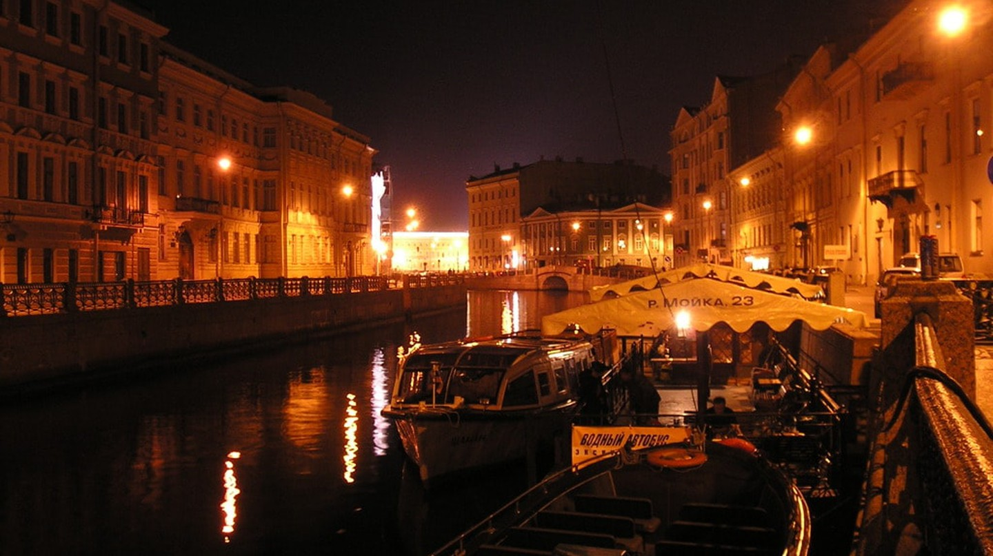 The Moika River at night