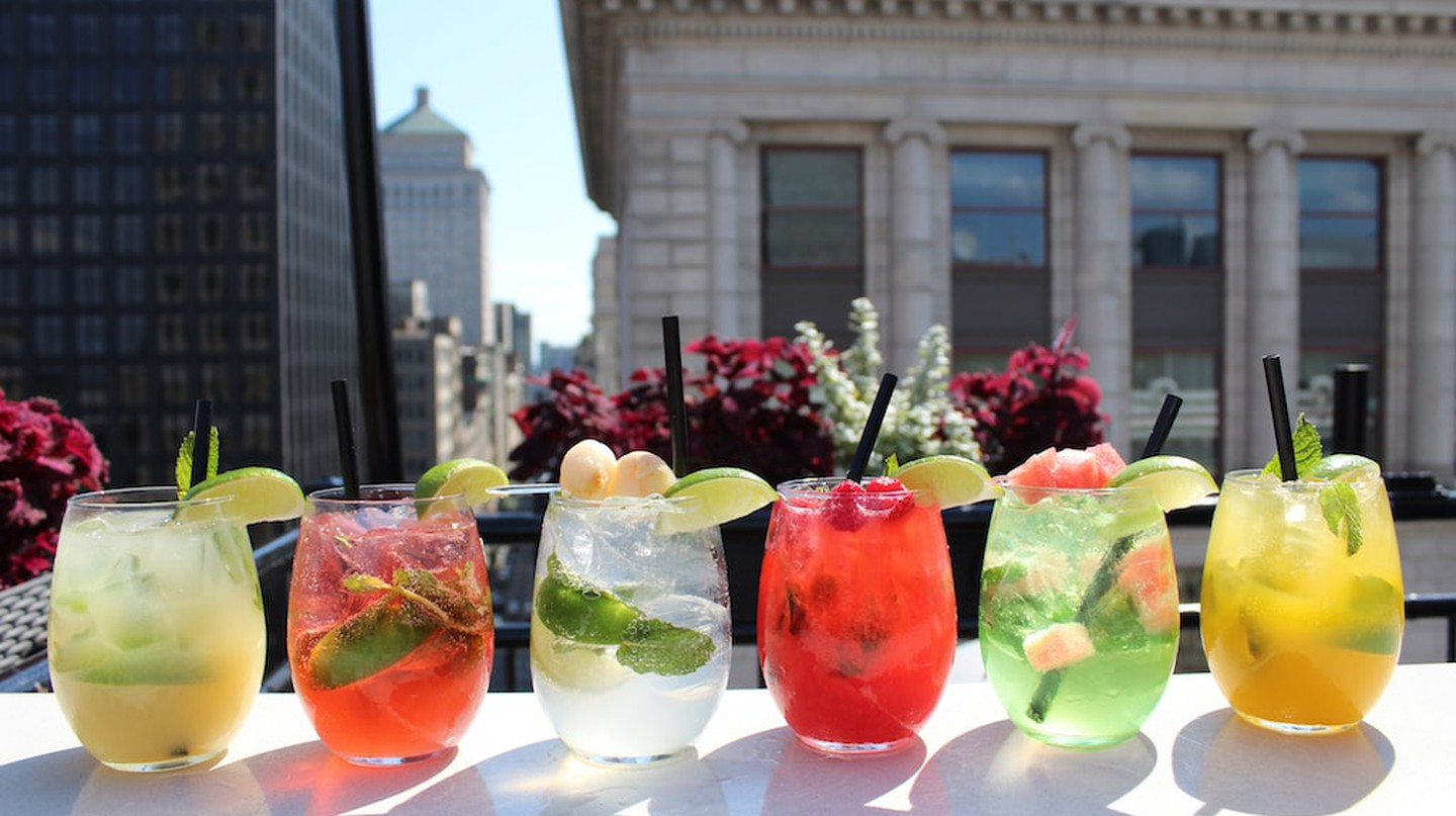 Drinks at Terrasse Place d'Armes