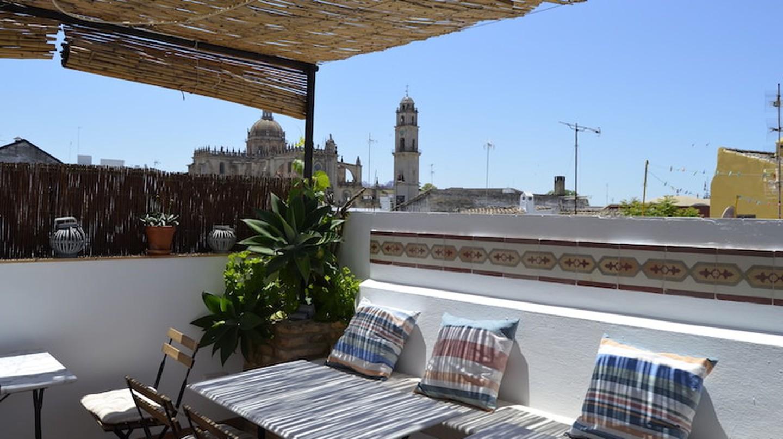 The roof terrace at La Fonda Barranco