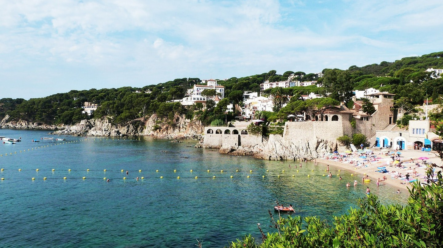 The Golfet beach on the Costa Brava