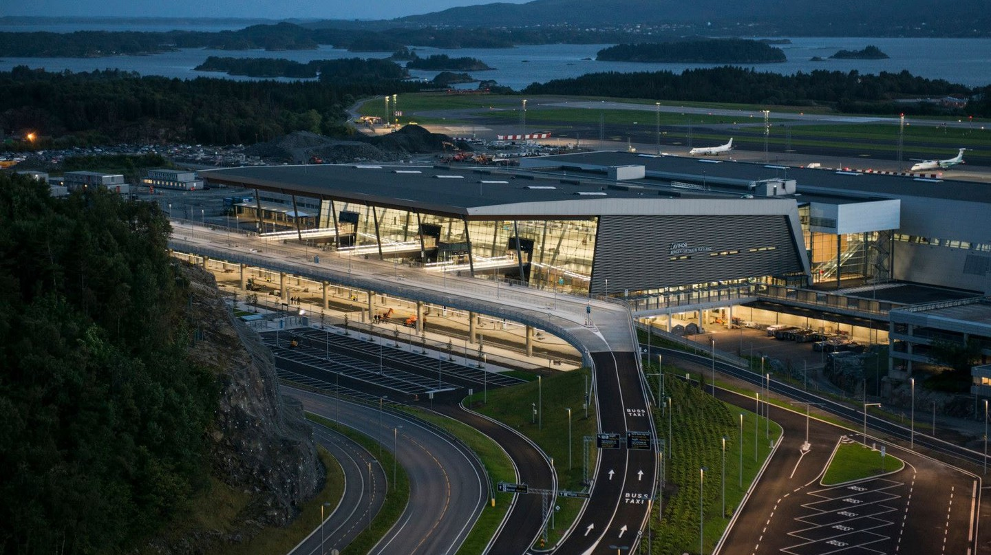 View of Bergen's new airport