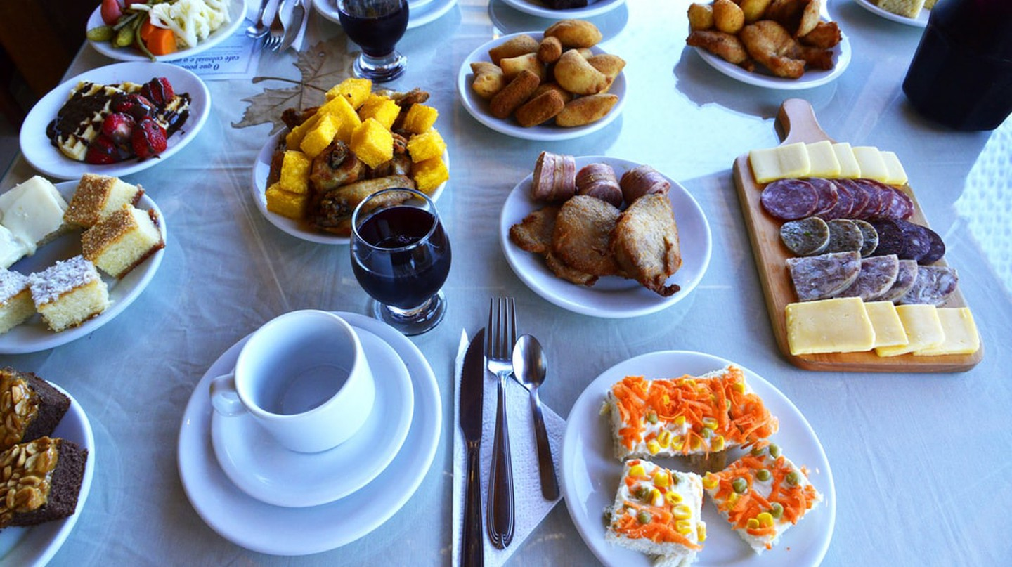 Café Colonial is a popular meal in Santa Catarina