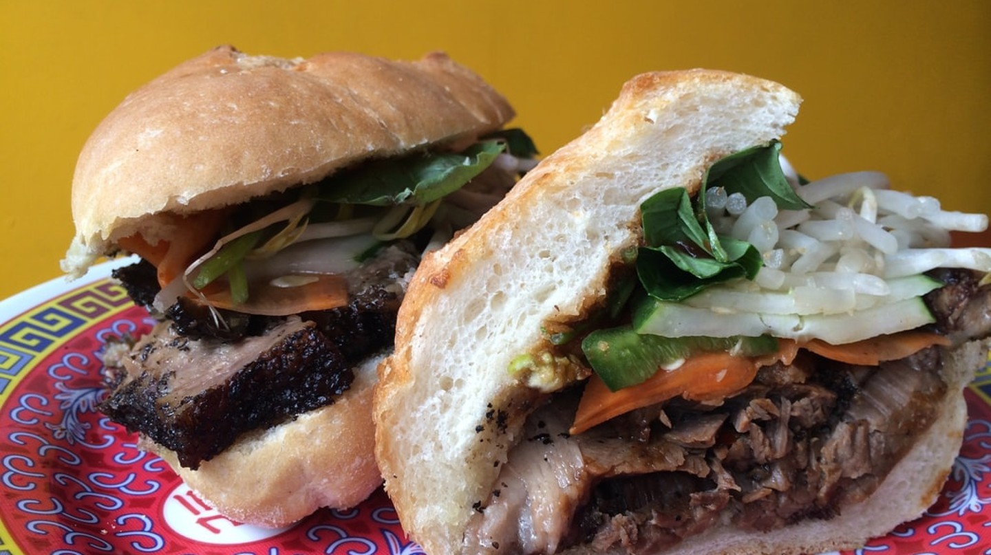 A banh mi at Lucy's Vietnamese Kitchen