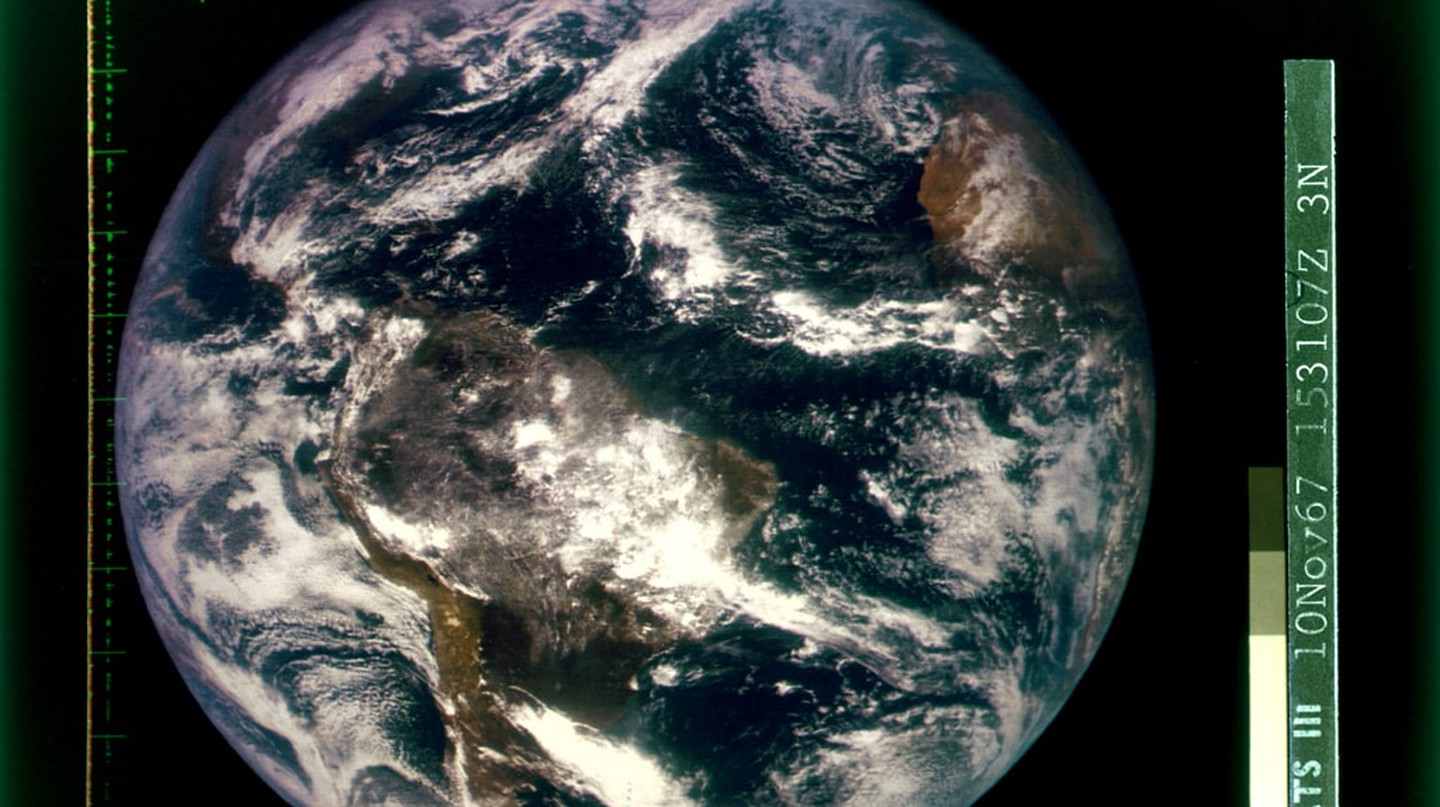 This photo of Earth from space was on the first cover of the 'Whole Earth Catalog'