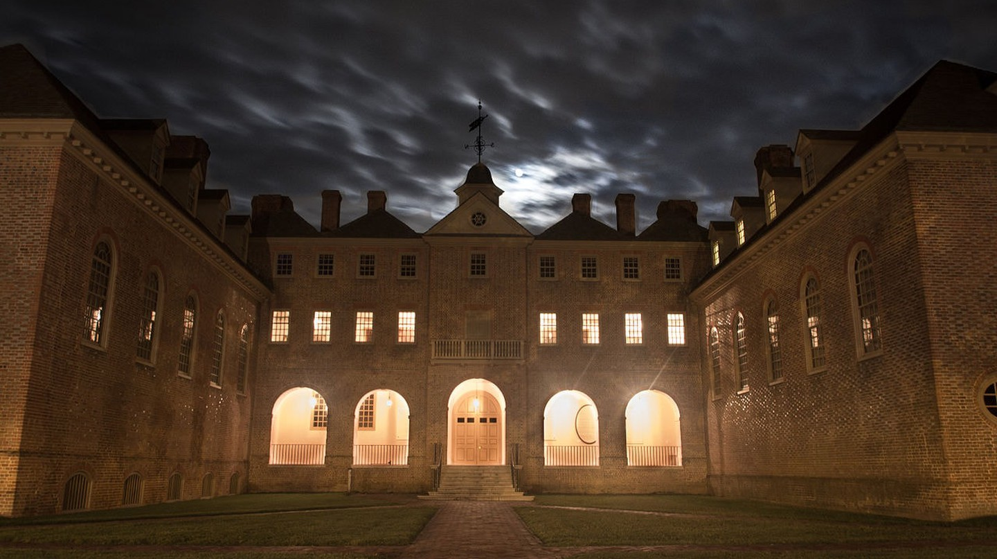 Some consider the Christopher Wren Building of the College of William and Mary to be haunted. It has a crypt underneath.