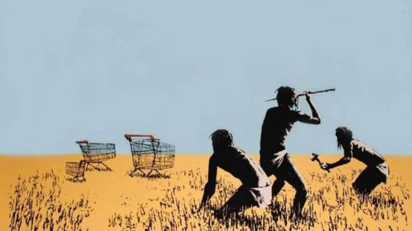 Banksy's 'Trolley Hunters' (2007)