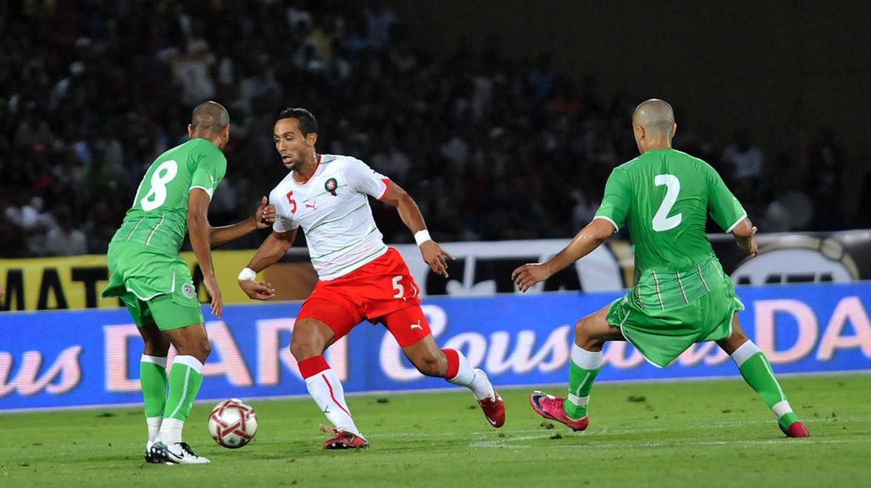 Mehdi Benatia (in white) in a match against Algeria