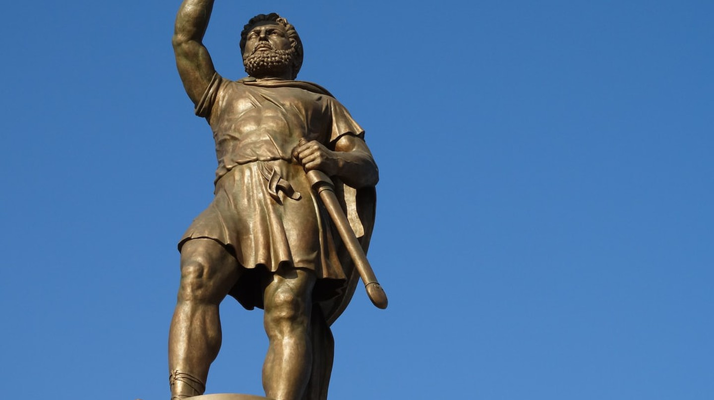 Statue of Alexander the Great in Skopje, Macedonia