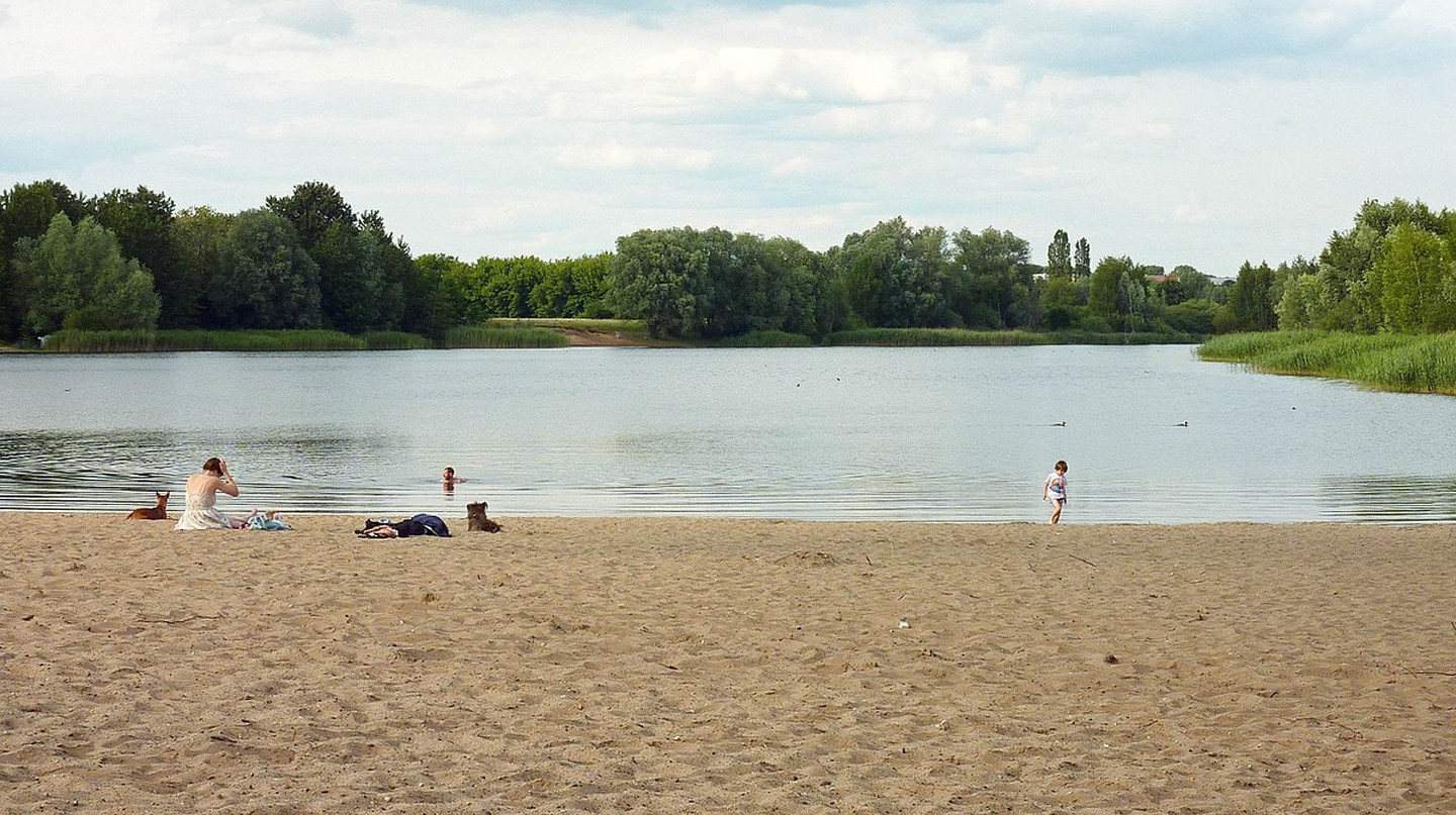 The banks of Habermannsee in Berlin