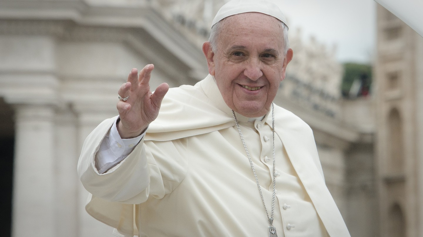 Pope Francis in ordinary dress