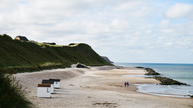 Rubjerg Knude lighthouse can be seen from Lønstrup Beach