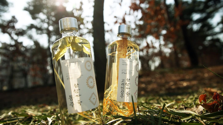 Korean wild ginseng liquor, believed to have medicinal properties