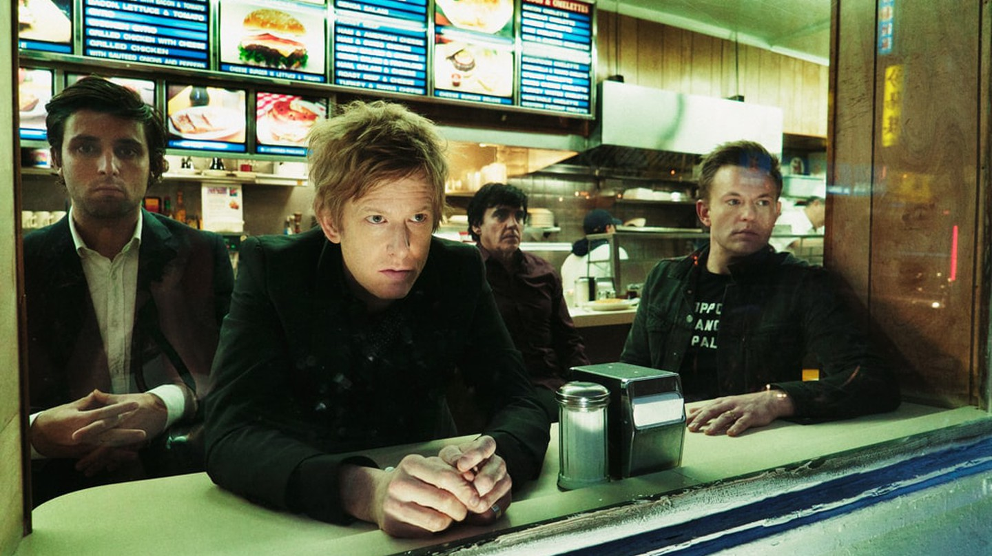Britt Daniels (second left) has fronted Spoon for over 20 years