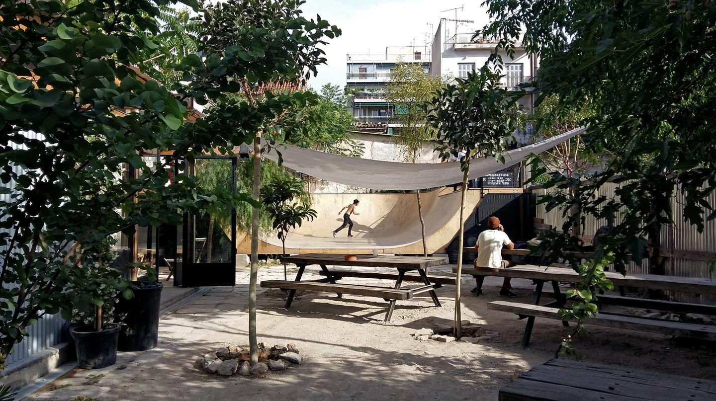 LATRAAC is a skate park and café in Kerameikos district, Athens