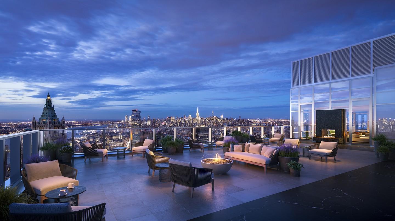 Penthouse terrace at 19 Dutch