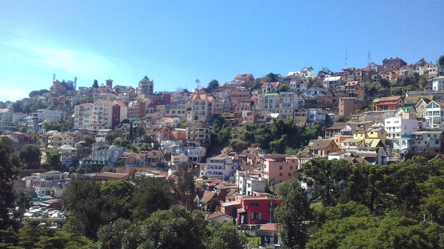 The colorful Upper town of Antananarivo with its diverse architecture