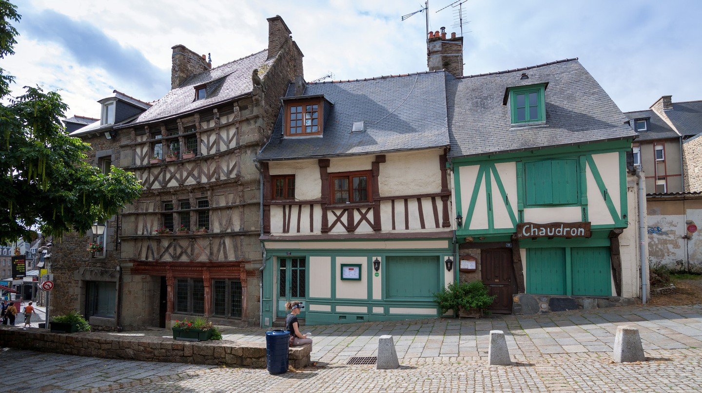 The pretty facades of Saint Brieuc