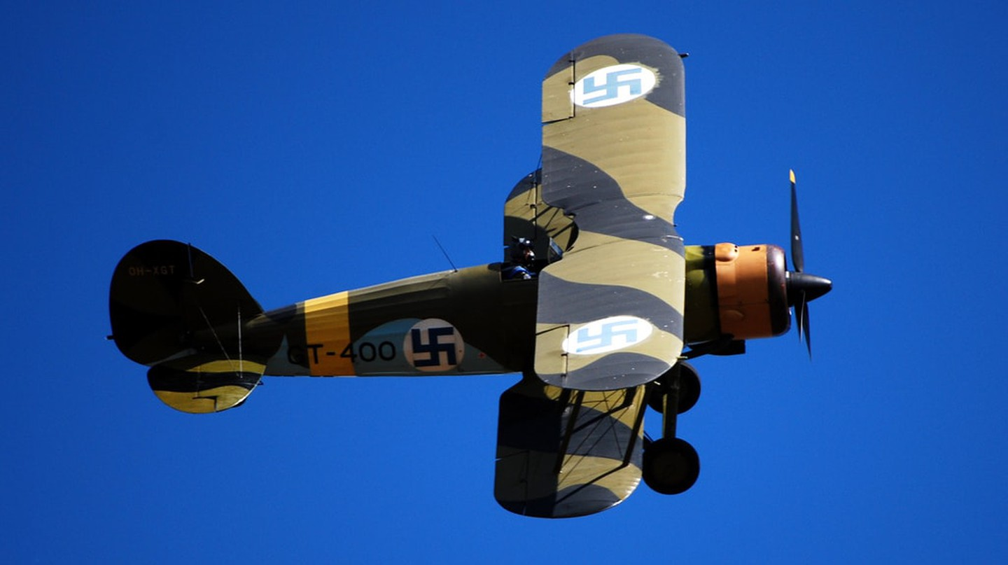 Restored Gloster Gauntlet of the Finnish Aviation Museum